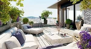 deco terrasse appartement 35 propositions qui vous With idee deco terrasse appartement