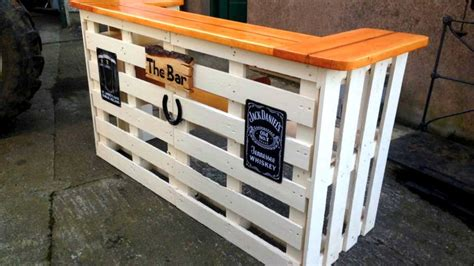 diy pallet bar ideas creative  cheap recycled bar