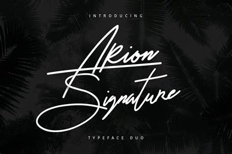 arion signature script fonts creative market