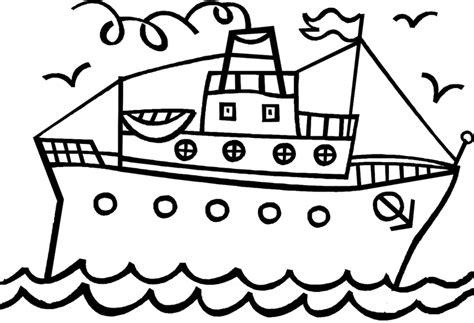 stampa disegno  nave  scialuppe da colorare