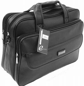 Mens Black Laptop Bag Messenger Briefcase Business Work ...