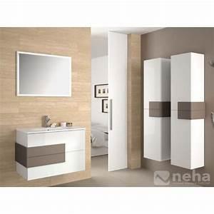 Meuble Salle De Bain Bois Et Blanc : meuble pour salle de bain bois meuble de salle de bain a voir sur rouen paiement 10fois sans ~ Teatrodelosmanantiales.com Idées de Décoration