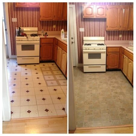 Kitchen Floor Before And After by Kitchen Floor Makeover Before And After Live