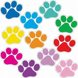 student name paw print magnets With kitchen cabinets lowes with paw print stickers