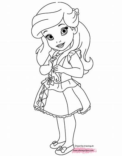 Coloring Princess Pages Ariel Disney Printable Belle