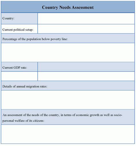 Needs Assessment Template Needs Assessment Template Sanjonmotel