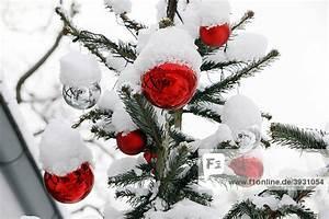 Weihnachtsbaum Mit Rosa Kugeln : verschneiter weihnachtsbaum mit roten kugeln ~ Orissabook.com Haus und Dekorationen