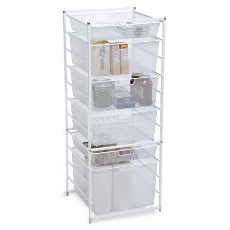 white cabinet sized elfa mesh drawers the container store