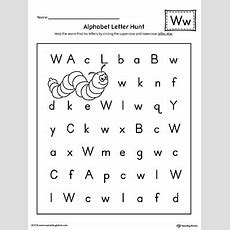 Alphabet Letter Hunt Letter W Worksheet Myteachingstationcom