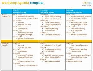 workshop agenda template to make your workshop better With workshop program template