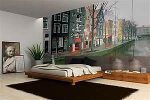 Papier Peint Deco : papier peint trompe l 39 oeil rue tunisienne izoa ~ Voncanada.com Idées de Décoration