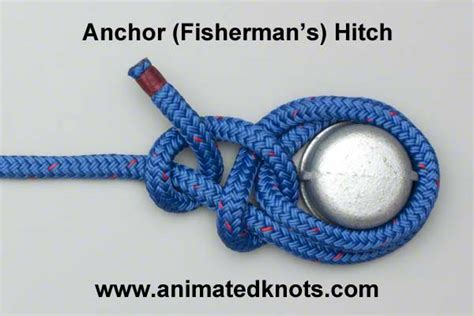 Boat Anchor Knot by Anchor Hitch Fisherman S Hitch Tying Step By Step