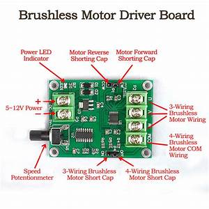 Dc 5v 4 Wire Mini Dc Brushless Motor Driver Module