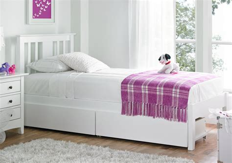 Malmo White Solo Wooden Bed Frame Painted Wood Wooden