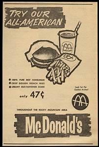 1964 McDonald's restaurants 47-cent meal unusual vintage ...
