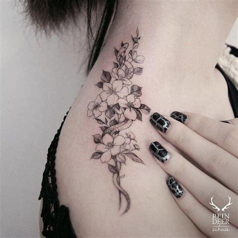 ideas  flower shoulder tattoos  pinterest