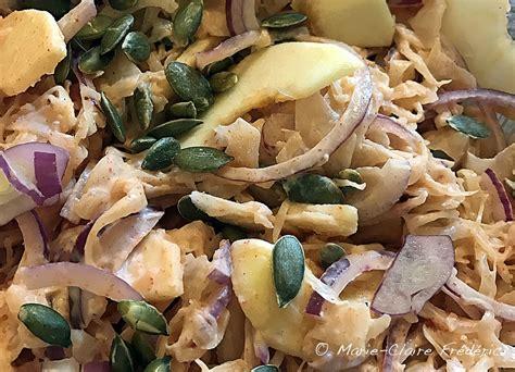 comment cuisiner la choucroute crue salade de choucroute au yaourt et paprika du goût et des