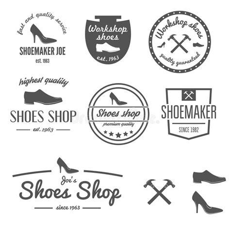 set of vintage logo badge emblem or logotype stock vector illustration of identity premium