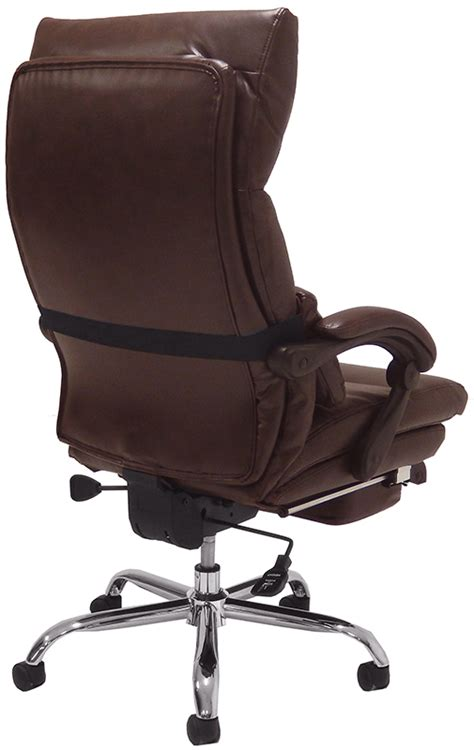 pillow top leather office recliner w footrest