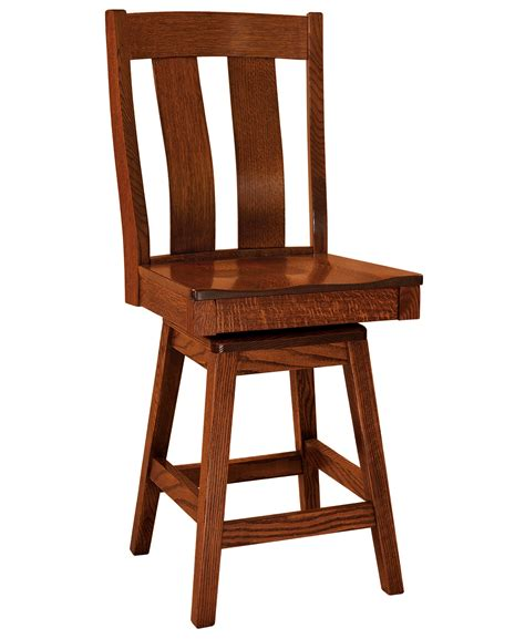 amish made oak table and chairs f n amish chairs swivel counter height stool wood seat