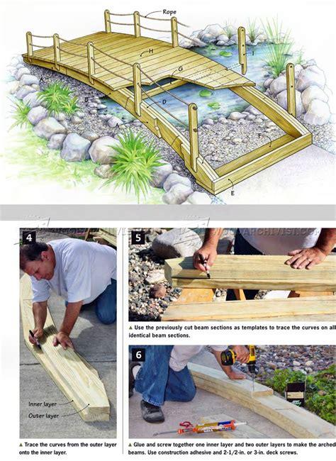 backyard bridge plans woodarchivist