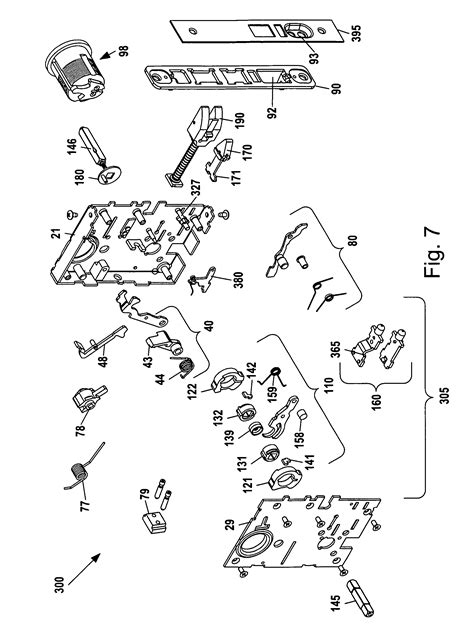 patent  mortise lock assembly google patents