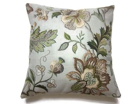 decorative pillow cover gray taupe olive green brown
