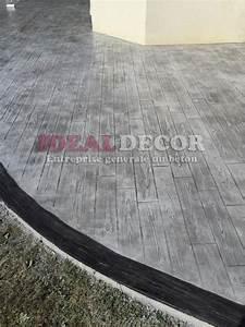 terrasse en beton imprime parquet bois et plus With terrasse beton imprime prix m2