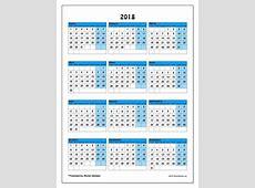 Calendario 2018 14 2019 2018 Calendar Printable with