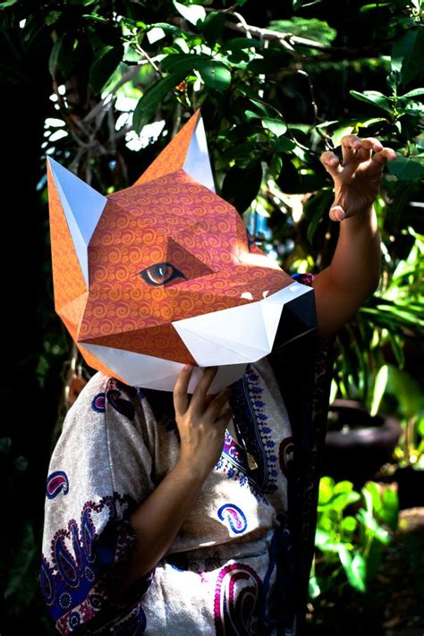 fox head mask papercraft