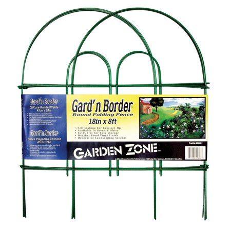 Garden Zone 041808 Gard\'n Border Round Top Folding Fence
