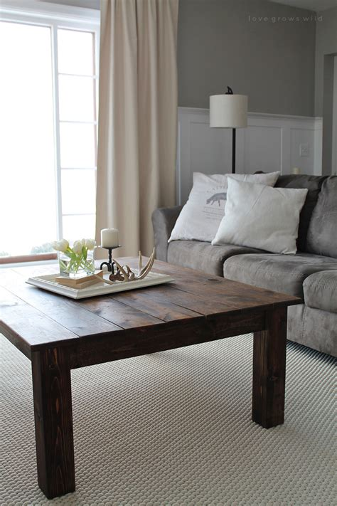 Pete shows how to build a farmhouse style coffee table and then how to distress it. DIY Farmhouse Coffee Table - Love Grows Wild