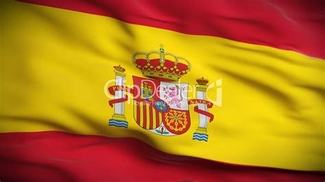 spanish flag hd looped royalty  video  stock footage