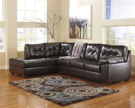 chaise pc alliston durablend chocolate 2 pc laf chaise sectional