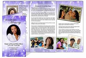 collage funeral memorial tri fold brochures ao glitter With memorial pamphlets free templates
