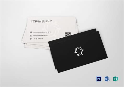 personal business card design template  psd word publisher