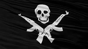 Loopable Somalia And Pirates Jolly Roger Flags. Alpha ...