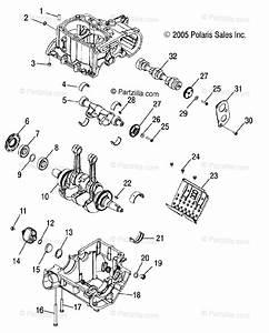 Polaris Atv 2007 Oem Parts Diagram For Engine  Crankcase