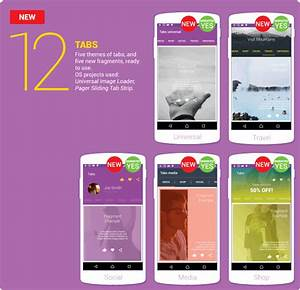 Material Design UI Android Template App DCI Marketplace