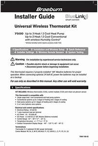 Braeburn Systems 7220 Thermostat User Manual