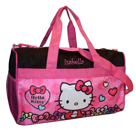 personalized  kitty duffel bag  dibsies