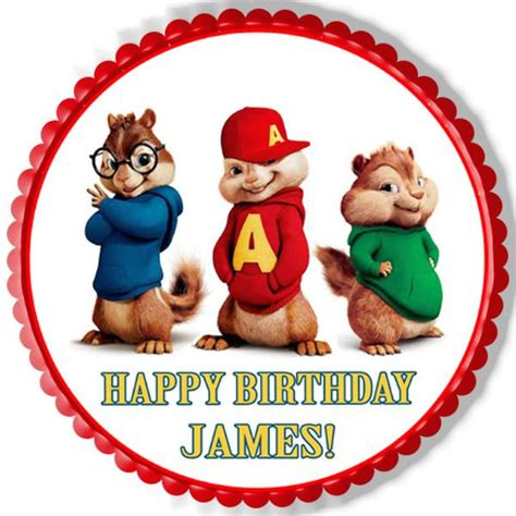 alvin and the chipmunks road chip 2 edible cake topper