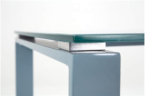 bureau acier et verre bureau acier et verre gris 160cm etokia design sur sofactory