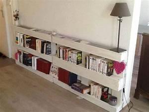 Dressing En Palette : ideas super originales para hacer bibliotecas con palets ~ Melissatoandfro.com Idées de Décoration