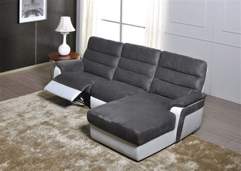 canapé d angle basika canapé d 39 angle droit relax electrique biaritz aruba gris he35 12 pu blanc