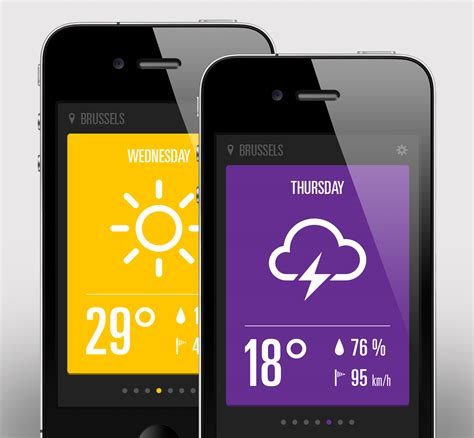 weather apps for iphone dribbble weather app iphone jpg by rob vloemans