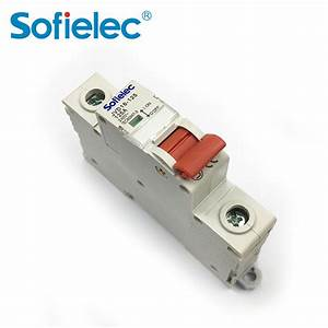 Hihg Quality Single Pole 63amp Isolation Switch Disconnector Circuit Breaker With Ce Certificate