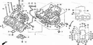 Honda Motorcycle 1996 Oem Parts Diagram For Crankcase