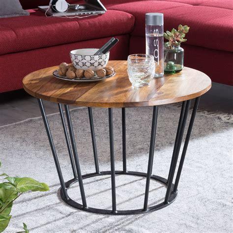 couchtisch industrial style finebuy couchtisch 62 x 40 x 62 cm sheesham holz metall wohnzimmertisch industrial style