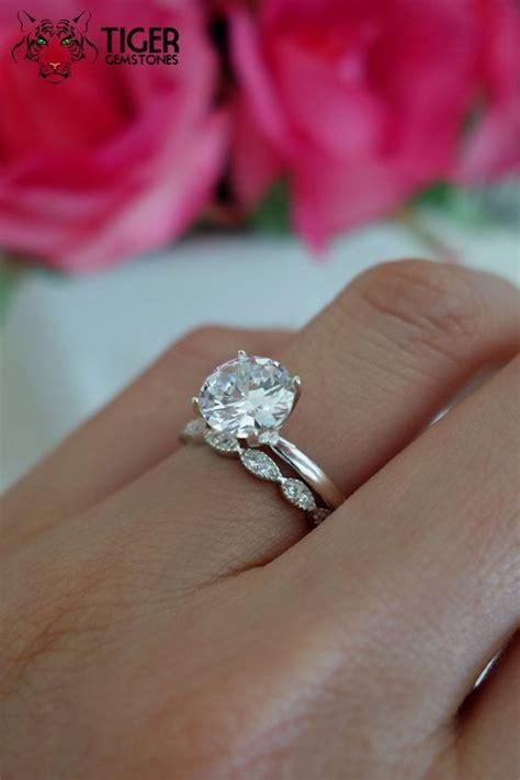 sale 2 carat deco solitaire wedding by